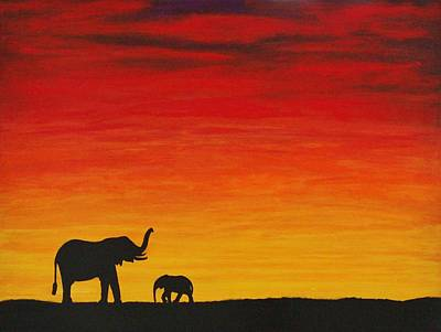 Painting - Mother Africa 1 by Michael Cross