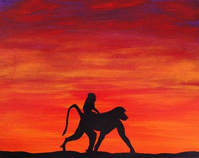 Painting - Mother Africa 4 by Michael Cross