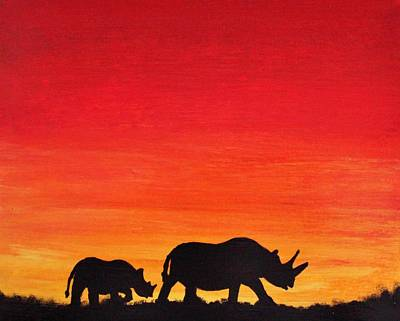 Painting - Mother Africa 5 by Michael Cross