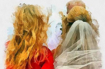Digital Art - Mother And Bride by Carrie OBrien Sibley