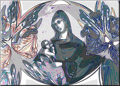 Digital Art - Mother And Child 2009 by Glenn Bautista