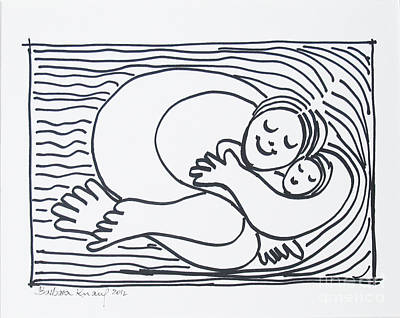 Drawing - Mother And Child by Barbara Anna Knauf