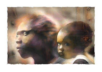 Portraits Digital Art - Mother And Child by Bob Salo
