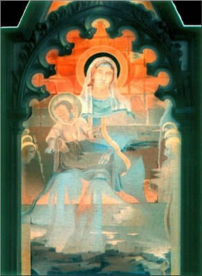 Mother And Child By Fabriano 1975 Art Print by Glenn Bautista