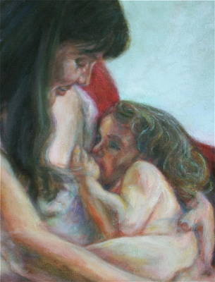 Mother And Child - Detail Art Print