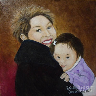 Soraya Painting - Mother And Child by Dindin Coscolluela