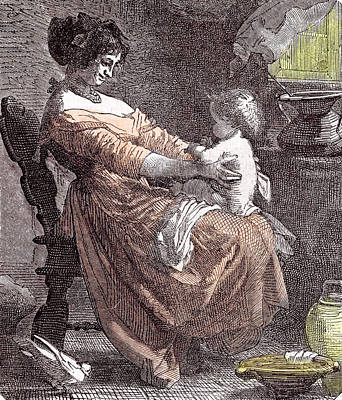 Mother And Child Art Print by Dutch School