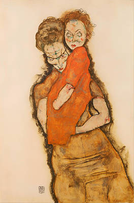Mother And Child Art Print by Mountain Dreams