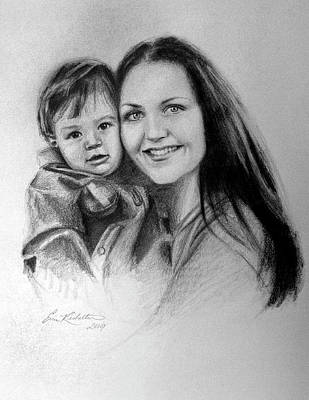 Painting - Mother And Child by Erin Rickelton