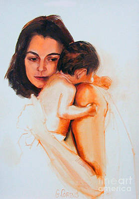 Painting - Mother And Child by Greta Corens