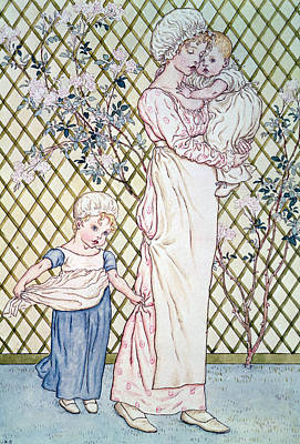 Mother And Child Art Print by Kate Greenaway