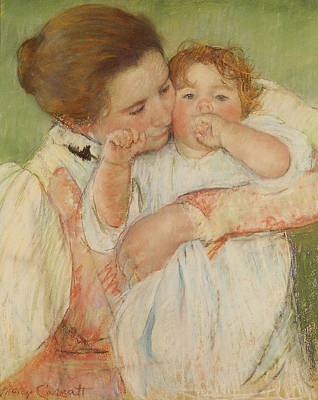 Children Painting - Mother And Child by Celestial Images