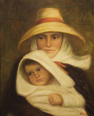 Mother And Child Art Print by    Michaelalonzo   Kominsky
