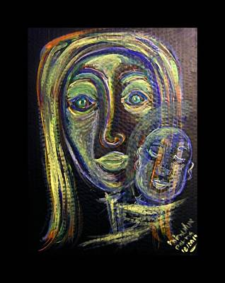 Understanding Painting - Mother And Child by Mimulux patricia no No