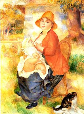 Digital Art - Mother And Child by Pierre-Auguste Renoir