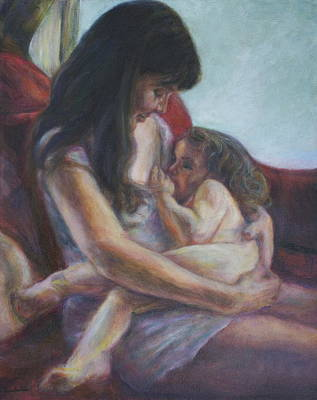 Painting - Mother And Child by Quin Sweetman