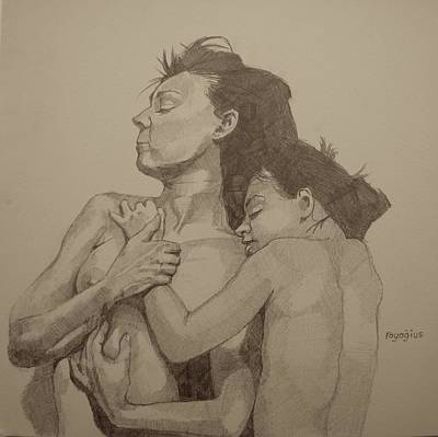 Painting - Mother And Child by Ray Agius