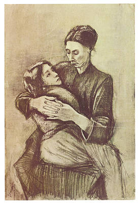 Mother And Child Art Print by Vincent Van Gogh