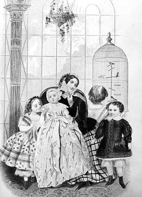 Painting - Mother And Children, 1856 by Granger
