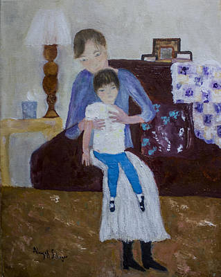 Painting - Mother And Daughter by Aleezah Selinger