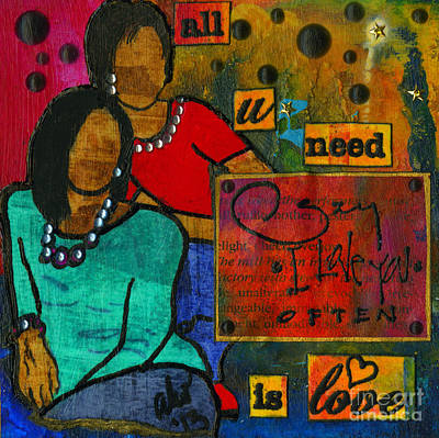Mixed Media - Mother And Daughter by Angela L Walker