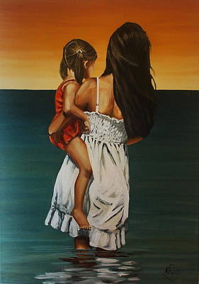 Painting - Mother And Daughter II by Natalia Tejera