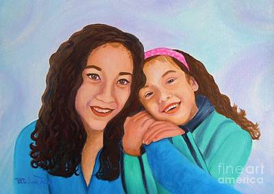 Mother And Daughter Art Print by Pauline Ross