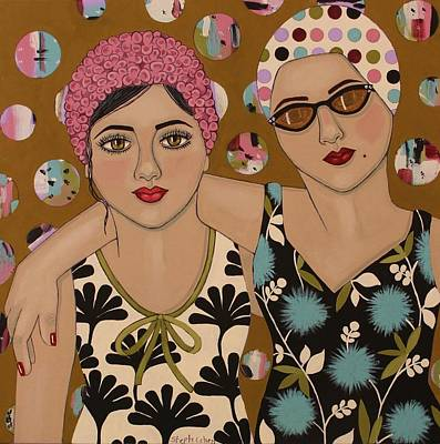 Mother And Daughter Art Print by Stephanie Cohen