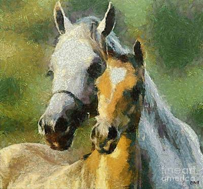 Portrait Painting - Mother And Son by Dragica  Micki Fortuna