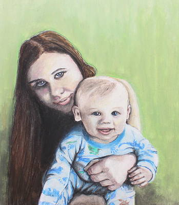 Painting - Mother And Son by Jeanne Fischer