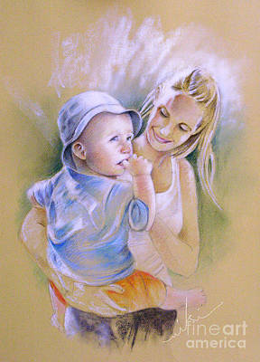 Painting - Mother And Son by Miki De Goodaboom