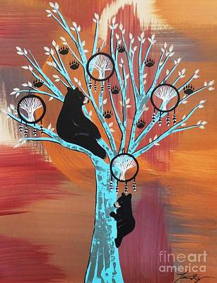 Painting - Mother Bear's Tree Of Life by Jean Fry