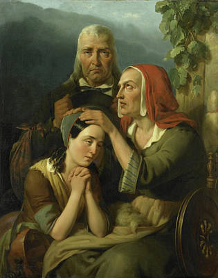 Blessings Drawing - Mother Blessing, Moritz Calisch by Litz Collection
