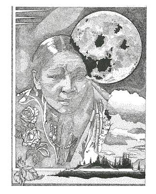 Drawing - Mother Earth by Clayton Cannaday
