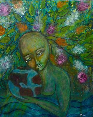 Shiloh Sophia Art Painting - Mother Earth by Havi Mandell
