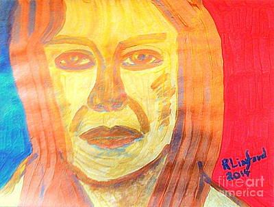 Mother Eve Gold Portrait 1 Original