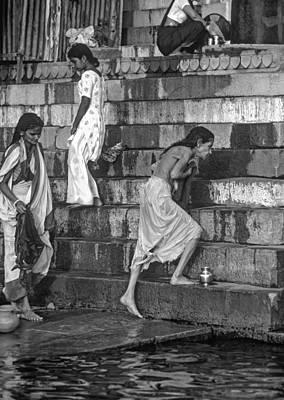 Mother Ganges Monochrome Art Print by Steve Harrington