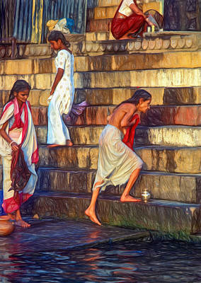 Mother Ganges - Paint Print by Steve Harrington