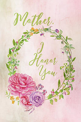 Family Love Painting - Mother I Honor You by Ramona Murdock