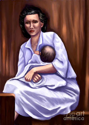 Painting - Mother In Distress by Sena Wilson