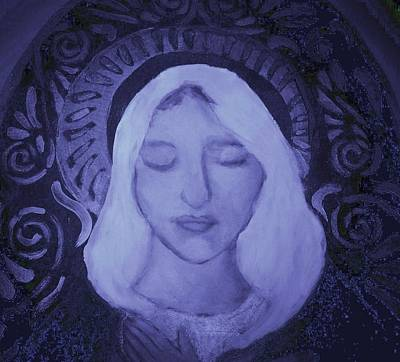 Art Print featuring the photograph Mother Mary I by Shirley Moravec