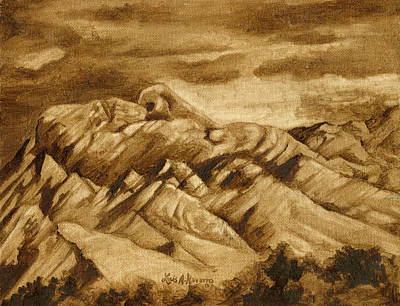Southwest Indians Painting - Mother Mountain by Luis  Navarro