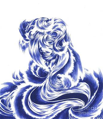 Mother Nature - Face Of The Sea Art Print by Alice Chen