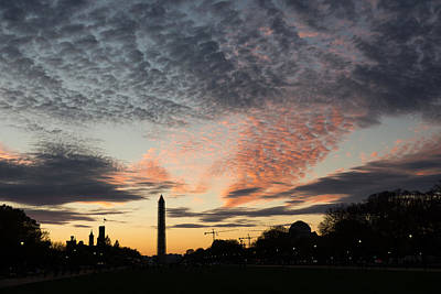 Mother Nature Painted The Sky Over Washington D C Spectacular Print by Georgia Mizuleva