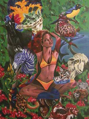 Zebra Painting - Mother Nature by Scott Dokey