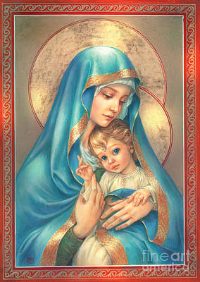 Mother Of God Art Print by Zorina Baldescu