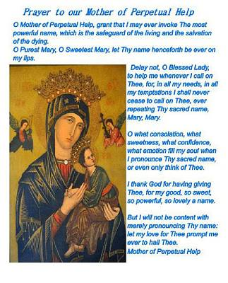 Mother Of Perpetual Help  Series 2 Art Print