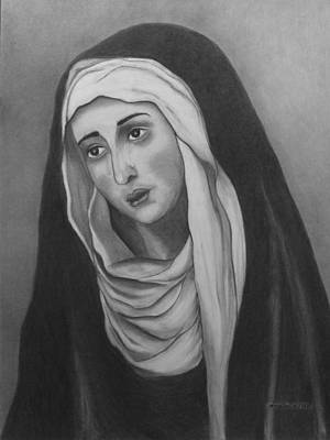 Painting - Mother Of Sorrows Version 2 by Alma Bella Solis