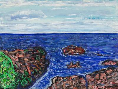 Ogunquit Marginal Way Painting - Mother Ogunquit by Lee Ledesma