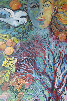 Spiritual Portrait Of Woman Painting - Mother by Susan Brown    Slizys art signature name